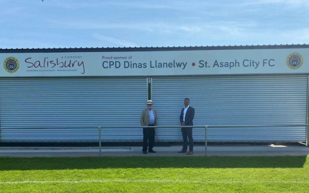 Salisburys Sponsor the New Main Stand at St Asaph Football Club